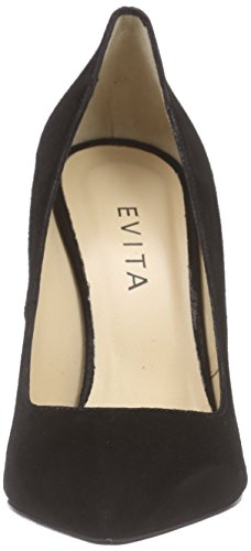 Punta Tacco Scarpe Donna Nero Shoes Schwarz 10 Schwarz Col Pump Chiusa Evita gwaZXqI1