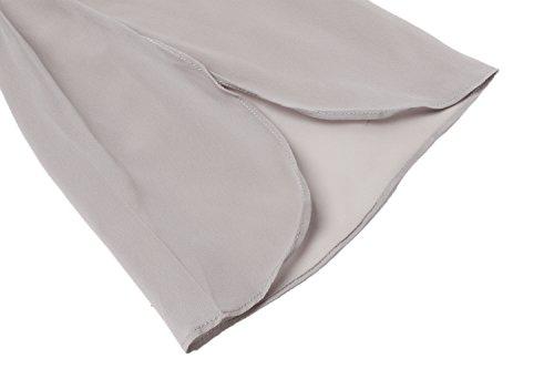 c76978a9de86 Hount Women Casual Loose Pullover Chiffon Blouse 3 4 Sleeve Solid Chiffon  Shirt