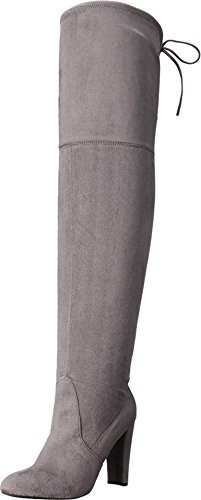 Charles David Sycamore Gray Strech Suede Thigh High Over Knee Fitted Dress Boots (5) MElFpLjOWt