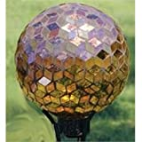 Carson Home Accents Auburn Art Glass 10-inch Iridescent Hand-painted Mosaic Garden Gazing Ball