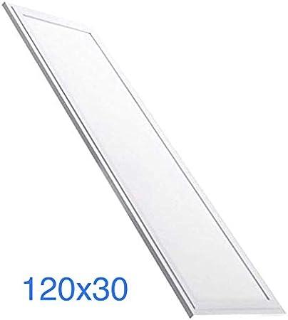 Panel LED Slim 120x30 cm, 48w. Color Blanco frio (6500K), 4000 lumenes. Driver incluido. A++