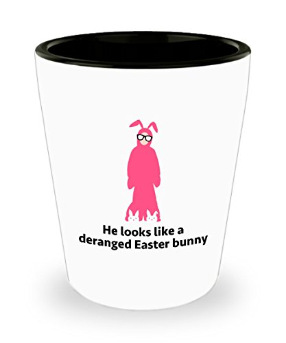[Christmas Story Ralphie Bunny Costume Funny Gift Shot Glass Movie Quote] (Ralphie Glasses For Costume)