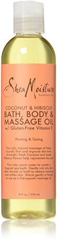 SheaMoisture Coconut & Hibiscus Bath Body and Massage Oil 8 FL OZ