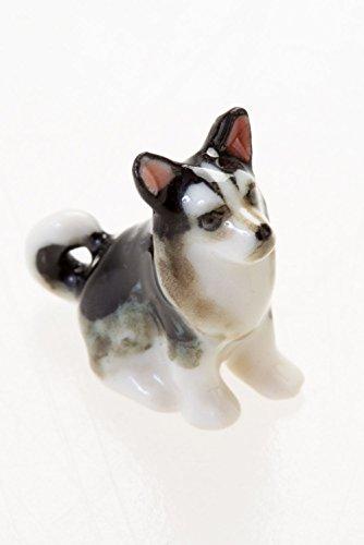 WitnyStore Husky Miniature Mini Siberian Dog Figurine