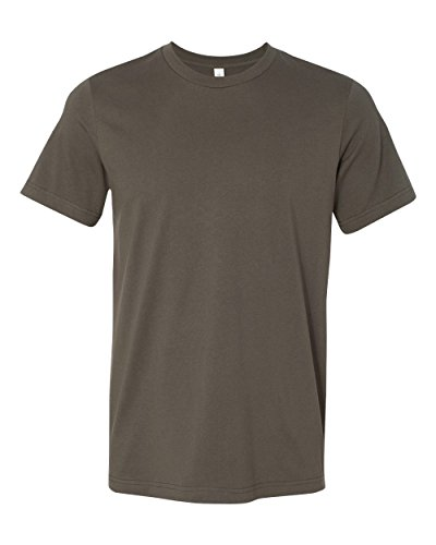 Canvas mens Unisex Jersey Short-Sleeve T-Shirt(3001C)-ARMY-L