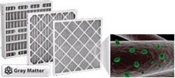 24 x 24 x1'' Odor Ban Carbon Pleated Furnace Filter - 12 pack