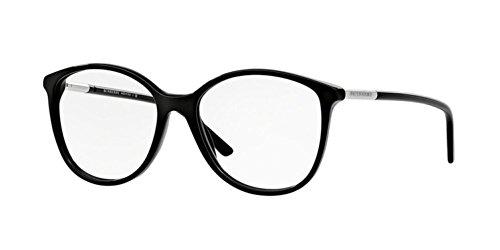 Burberry BE2128 Eyeglass Frames 3001-5216 - Black BE2128-3001-52