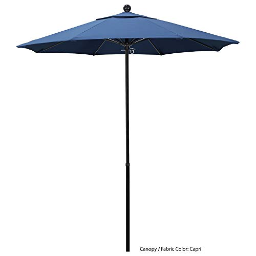 TableTop King EFFO 758 Pacifica Oceanside 7 1/2' Round Push Lift Umbrella with 1 1/2