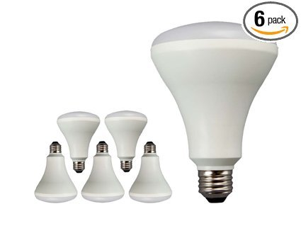 Feit 65W Equivalent Soft White BR30 Dimmable Enhance LED Light Bulb (6-Pack) ()
