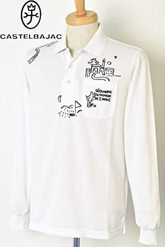 [カステルバジャックスポーツ] ゴルフ 長袖ポロシャツ トップス メンズ L(48) ホワイト(01) B07Q8KXTSN