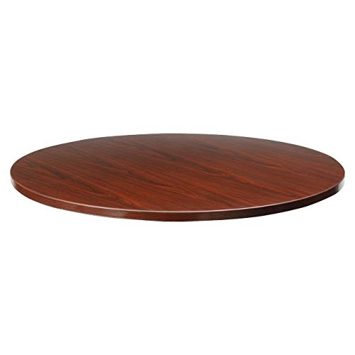 Lorell Round Tabletop, 42-Inch, Mahogany
