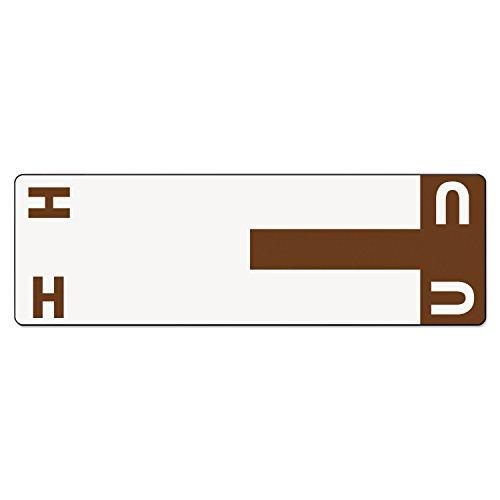 SMD67159 - Smead 67159 Dark Brown AlphaZ NCC Color-Coded Name Label - H U