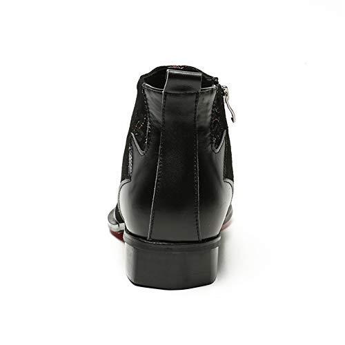 Black Nero UK4 Hnleather Cowboy Stivali 46 Stivaletti Scarpe Uomo Classico Taglia EU36 Biker Caviglia Pelle EU 38 qRBqFaxwz6