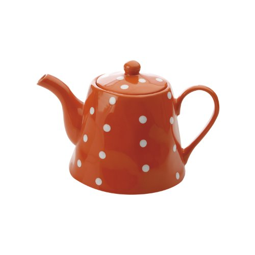 Maxwell and Williams Sprinkle Teapot, 40.5-Ounce, Orange