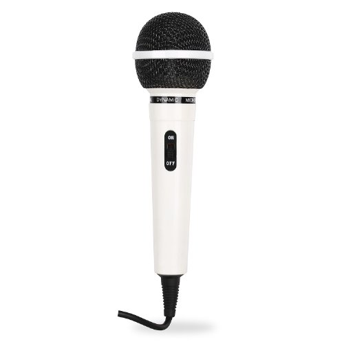 Auna dynamisches Sprach- und Gesangsmikrofon mit 6,3mm-Klinke Anschluss (100Hz bis 12,5kHz, 75dB,600 Ohm) 2,5m Kabel