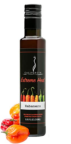 (Calivirgin Habanero Olive Oil - Habanero Infused Extra Virgin Olive Oil - Cold Pressed Olive Oil - Habanero Flavored Olive Oil - No Preservatives, Organically Grown Olives - Gourmet Olive Oil - 250ml)