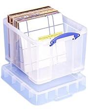 Really Useful Box 35CXL Plastikowe Pudło na Dokumenty, Przezroczysty, 35L