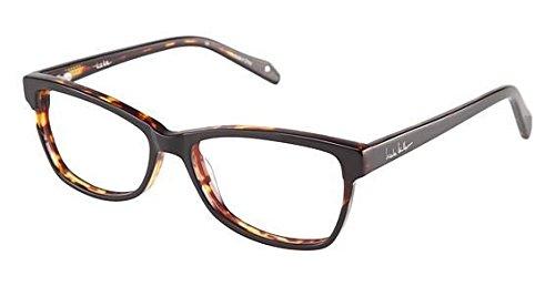 Nicole Miller Ellery Eyeglass Frames - Frame BLACK/TORTOISE, Size - Glasses Ellery