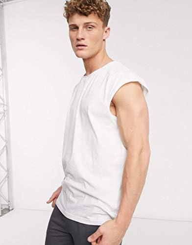 ブレイブソール タンクトップ ノースリーブ アームホール メンズ Brave Soul raw edge sleeveless t-shirt vestRRP [並行輸入品]