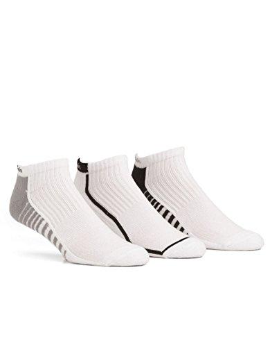 Calvin Klein Men's 3 Pack Coolpass Ped Sock,White,Sock Size:10-13/Shoe (Calvin Sport Socks)