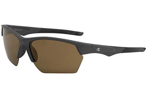 (Champion Men's CU5118 CU/5118 C02 Graphite/Black Sport Wrap Sunglasses 69mm)