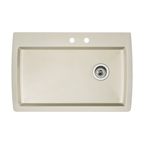 (Blanco 440196-2 Diamond 2-Hole Single-Basin Drop-In or Undermount Granite Kitchen Sink,)