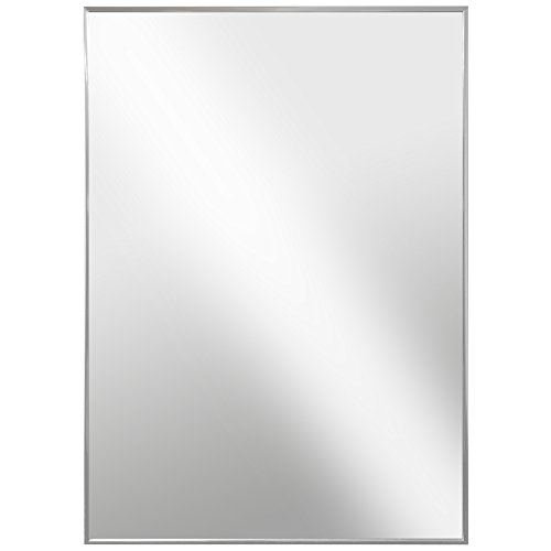 Raphael Rozen , Modern Hanging Framed Wall Mounted Metal Mirror, Chrome - Bathroom Styles Different Mirrors Of