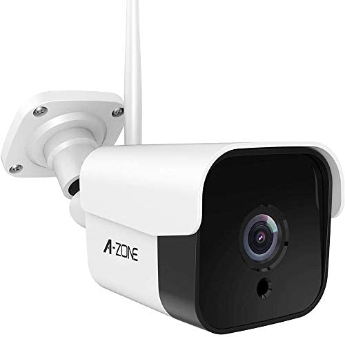 AZONE Outdoor Security Camera – 3MP Bullet Door Camera IP66 Colorful Night Vision Home Surveillance System, Work with Alexa, WiFi Camera Outdoor, Two-Way Audio, Motion Detector, Alarm Recording
