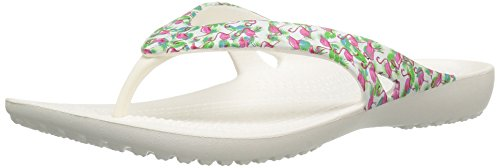 crocs Women's Kadee Ii Graphic W Flip Flop, Flamingo, 9 M US