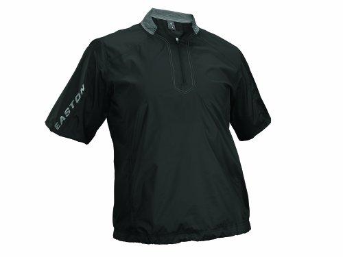 Easton Men's Magnet Short Sleeve Batting Jacket, Black, Medium