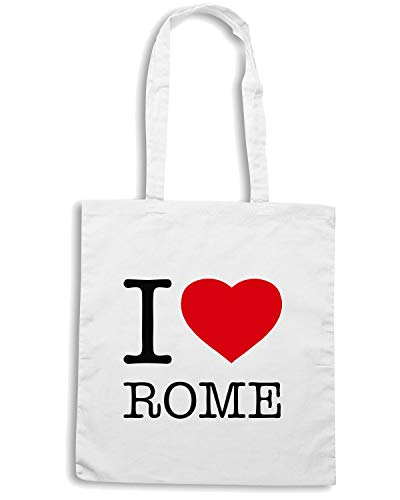 Borsa Shopper Bianca TLOVE0053 I LOVE ITALY