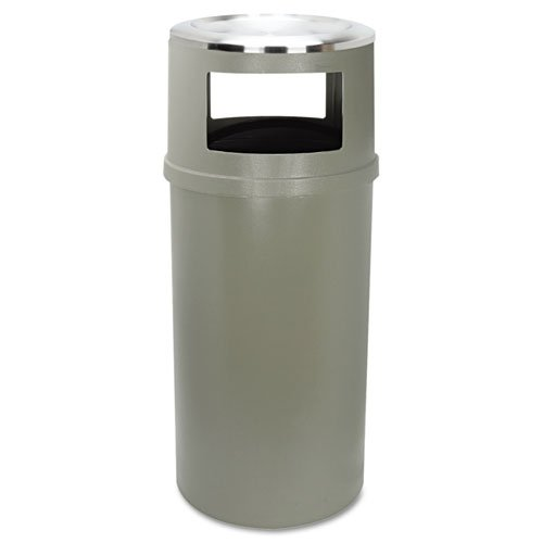 Rubbermaid Commercial Ash/Trash Classic Container w/o Doors, Round, 25 gal, Beige - Includes one each. by Rubbermaid Commercial