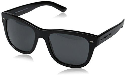 D&G Dolce & Gabbana Men's New Bond Street Square Sunglasses, Brushed Black & Grey, 55 - For D&g Sunglasses Men