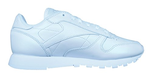 Pearlized Reebok Leather White Mujer Lthr Classic Cl qx0wv8E