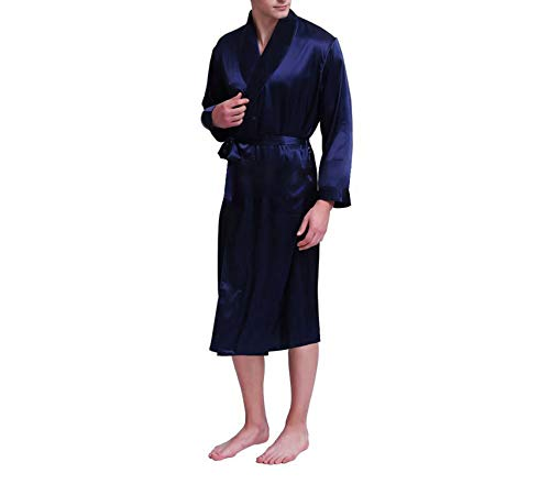 Raso All Plus Blue Camicia Uomo Notte fit Seasons Navy 3xl Da S Pigiama Accappatoio ~ In 7AUq5