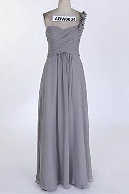 The Cambridge Collection Women's One-Shoulder Flower Strap Long Dress