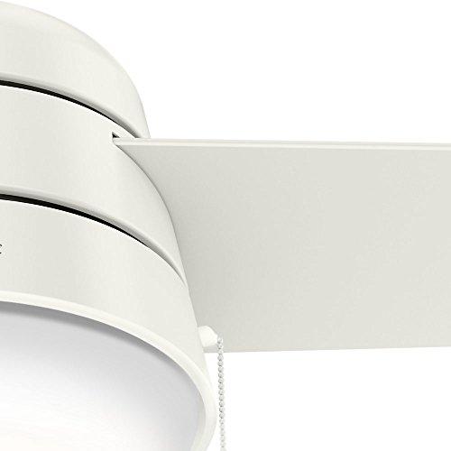 Hunter Fan Company 59301 Aker Ceiling Fan Hunter Light, 36'', Fresh White by Hunter Fan Company (Image #4)