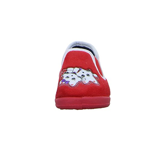 Happy Bee B508540/252 Mädchen Hausstiefelette Kaltfutter Rot (Rot)