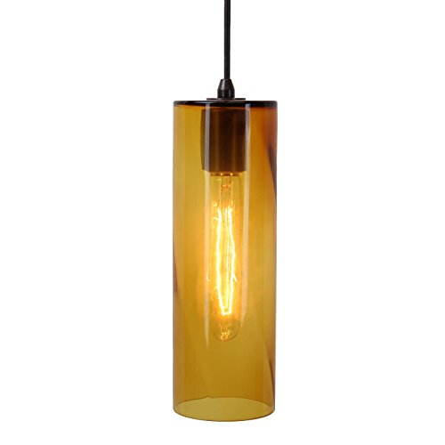 Direct-Lighting DPN-49269-AMC 1-Light 4-inch wide Mini Pendant Light, Translucent Amber Glass Shade