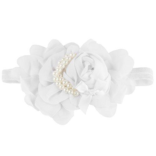 Baby Headband Photo Hand made 1 White