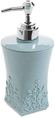 TBCML バスルームキッチンホテルリキッドハンドソープポンプのためのワイドボトルネックとローションディスペンサープラスチックソープディスペンサー、 (Color : Blue, Size : 17.5cm)