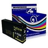 T7024 Jaune Premium 25ml Compatible cartouche d'encre pour Epson WorkForce Pro WP-4015DN WP-4025DW WP-4095DN WP-4515DN WP-4525DNF WP-4535DWF WP-4545DTWF WP-4595DNF