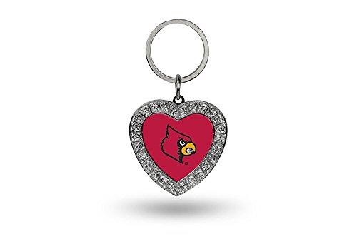 Rico NCAA Louisville Cardinals Rhinestone Heart (Louisville Keychain)