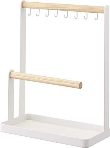 YAMAZAKI home 2311 Accessory Stand-Jewelry Holder & Organizer Storage, One Size, White