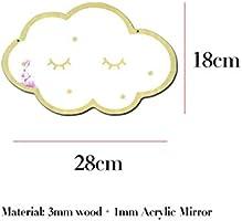 Floridivy Dibujos Animados de acr/ílico en Forma de Nube de Bricolaje de Madera Espejo Espejo Colgante Inicio Decoraci/ón para Habitaciones de ni/ños