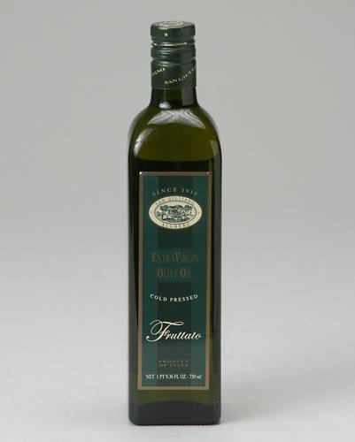 San Giuliano Organic Extra Virgin Olive Oil, Fruttato (EVOO - From Italy), Cold Pressed - 25.4 Oz / 750 Ml (Pack of 6)