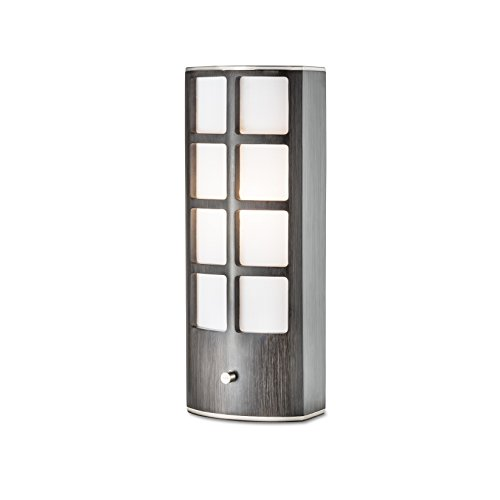 NOVA of California 1310946 Ventana Designer Transitional Accent Table Lamp, Charcoal Gray Finish with Dimmer Switch, Ambient Lighting Perfect for Living Room, Den, Family Room, Office, (Accent Table Lamp Nova Lighting)