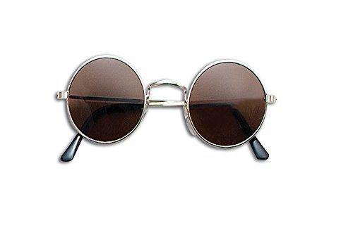 John Lennon Sunglasses Glasses Accessory for 60s 70s Hippie Fancy Dress Glasses by Partypackage Ltd - 70s Hippie Dress