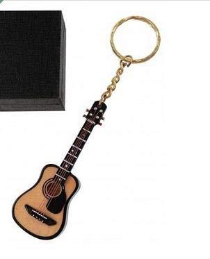 REGALOS LLUNA Llavero Miniatura Musical (Llavero Guitarra ACUSTICA)
