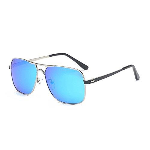 Aviator hombres de Azul de hombre día visión negra Eyewear conducción lente para estuche de Gafas sol con para de polarizadas Gafas aleación de de Ywp0q0